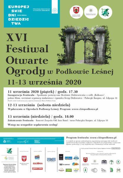 Read more about the article Zobacz program Festiwalu Otwarte Ogrody 2020
