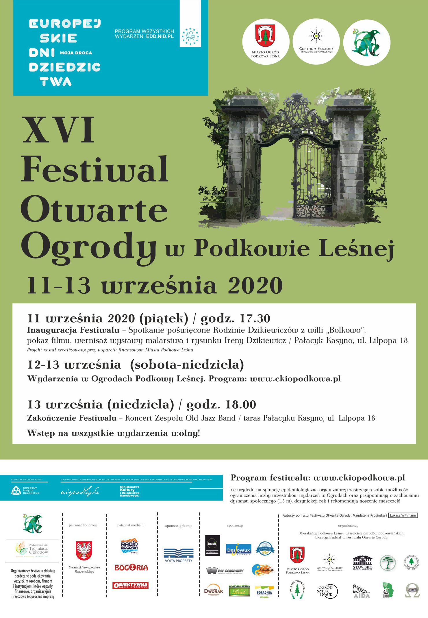 You are currently viewing Festiwal Otwarte Ogrody 2020