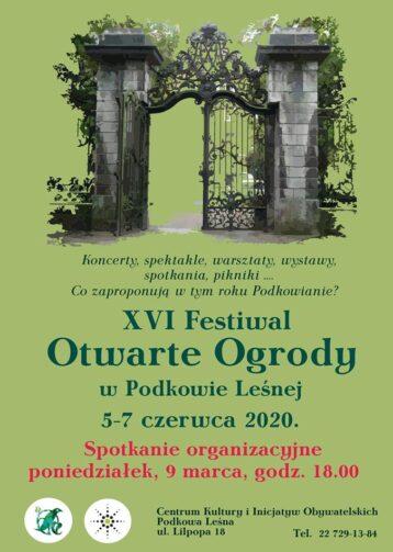 Spotkanie z Ogrodowiczami przed XVI edycją FOO