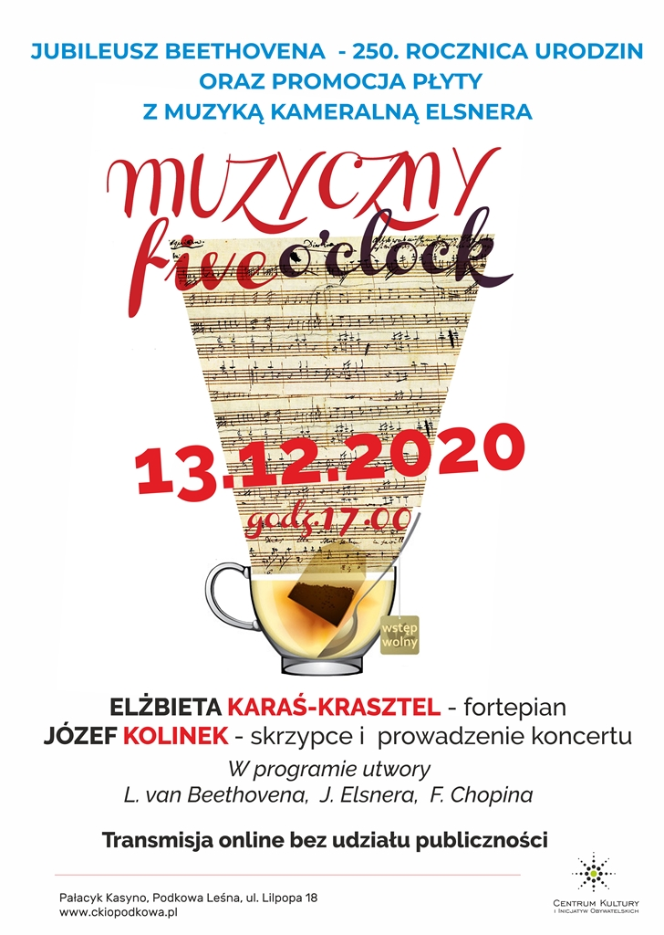 You are currently viewing MUZYCZNY FIVE O'CLOCK: Jubileusz Beethovena