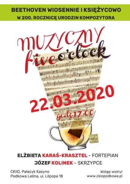 Read more about the article MUZYCZNY FIVE O'CLOCK ODWOŁANY