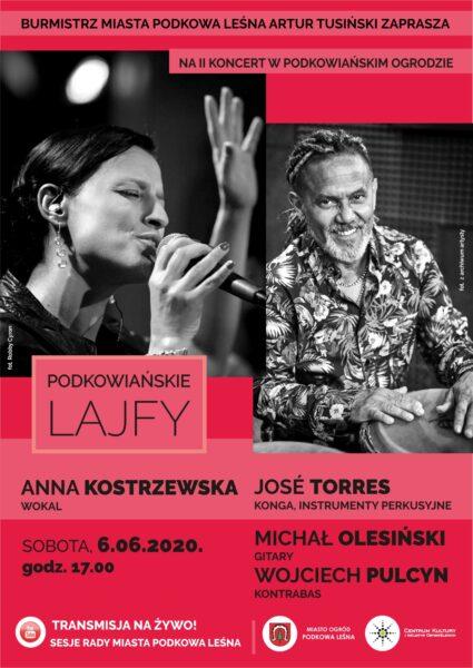 Read more about the article Podkowiańskie Lajfy – koncert Anny Kostrzewskiej z zespołem