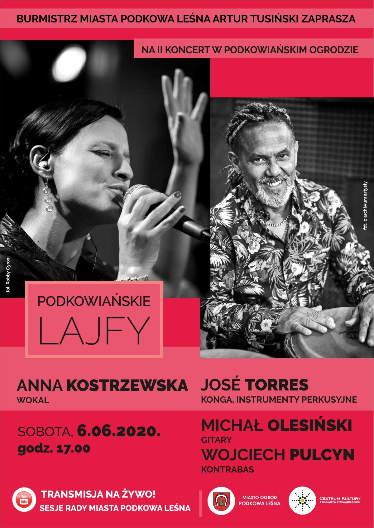 You are currently viewing Podkowiańskie Lajfy – koncert Anny Kostrzewskiej z zespołem