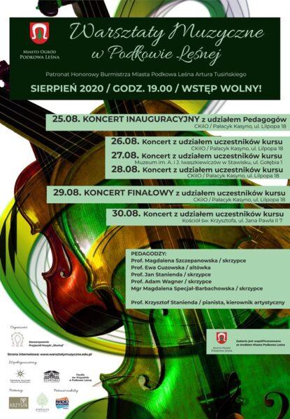 Read more about the article Koncerty muzyczne w Podkowie Leśnej w wykonaniu pedagogów i uczestników warsztatów