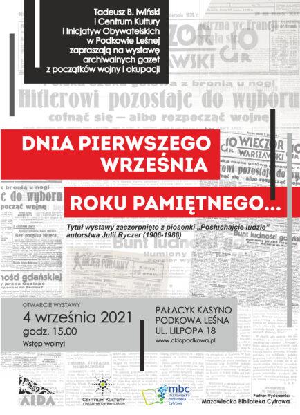 Read more about the article Dnia pierwszego września roku pamiętnego…