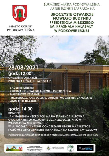 Read more about the article Uroczyste otwarcie budynku przedszkola miejskiego