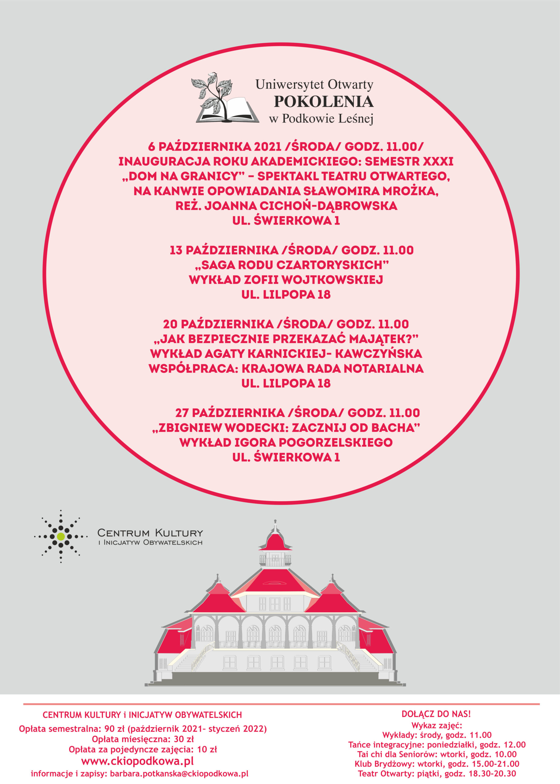 You are currently viewing Uniwersytet Otwarty POKOLENIA – październik 2021